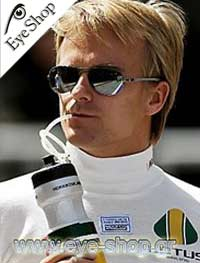 ray ban 8301 waq6  Formula 1 Lotus Pilot Heikki Kovalainen wearing RayBan Carbon Fiber