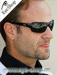 07985e336c2 Formula 1 Pilot - Rubens Barrichello wearing Rayban sunglasses. Rayban 4075