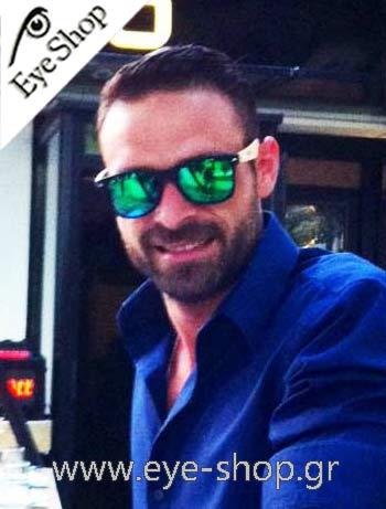 Το μοντέλο Γιώργος Μπαβέλης με γυαλιά ηλίου Artwood Milano   eyeshopgrcelebrities. Artwood Milano Bambooline 2 MP200 b22f7d9e744
