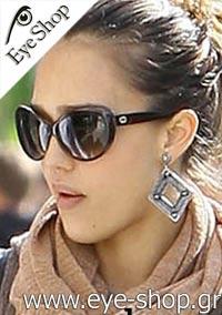 Jessica-Albawearing sunglasses Gucci3510