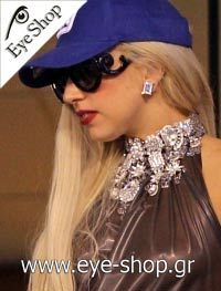Lady Gaga wearing the Prada minimal baroque sunglasses model 27NS color 1AB3M1 Minimal Baroque Limited Edition