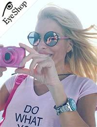 Eleni-Menegakiwearing sunglasses Prada57TS
