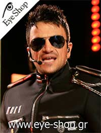 Peter Andre wearing Rayban aviator sunglasses model 3025 Aviator color 001/3F