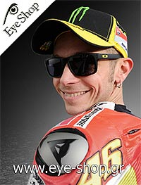 O Valentino Rossi με γυαλιά ηλίου Holbrook signature series model Holbrook 9102 color G7 prizm sapphire polarized