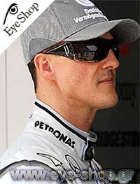 25e9bbf7a7 Ο Michael Schumacher παγκόσμιος πρωταθλητής της Formula 1 με γυαλιά ηλίου  Police