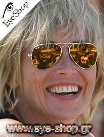 ray ban gold mirrored aviator sunglasses  ray ban gold mirrored aviators