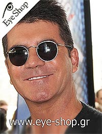 Simon Cowell wearing Rayban sunglasses model 3447 color 006/3F