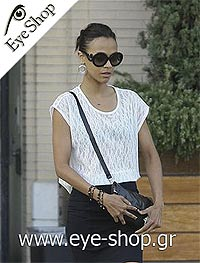 Zoe Saldana wearing Prada Minimal Baroque sunglasses www.eye-shop.gr model 27NS color 1AB3M1 Minimal Baroque Limited Edition