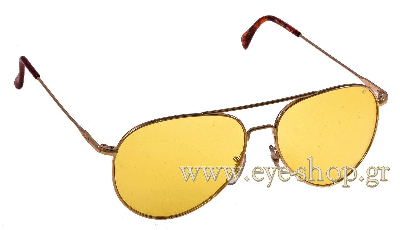 fbc85433f0 Aviator , color gold brown Metal , lenses yellow. Enlarge Colors  Discontinued. Sunglasses American Optical GENERAL ...