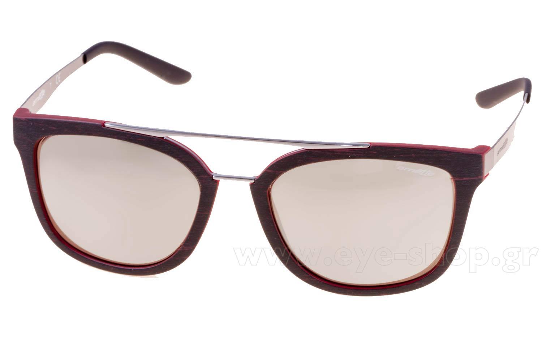 Arnette Mens AN4232-24295A-56 Brown Rectangle Sunglasses