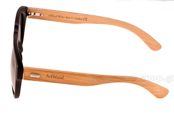 Artwood Milano model Steve 60 color MtBlack SilverMirror Polarized Cat3