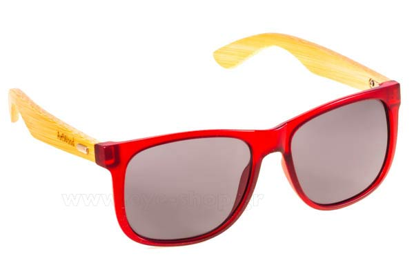 Sunglasses Artwood Milano Jackson Red Bamboo Temples