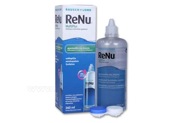 Contact lenses solutions cleaners  Bausch-Lomb ReNu MultiPlus Solution 360ml