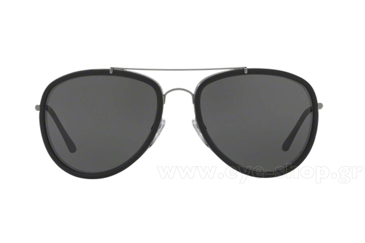 e69752d8987b Frame Color:GUNMETAL/MATTE BLACK - Lenses Color:gray. Burberry model 3090Q  color 100387