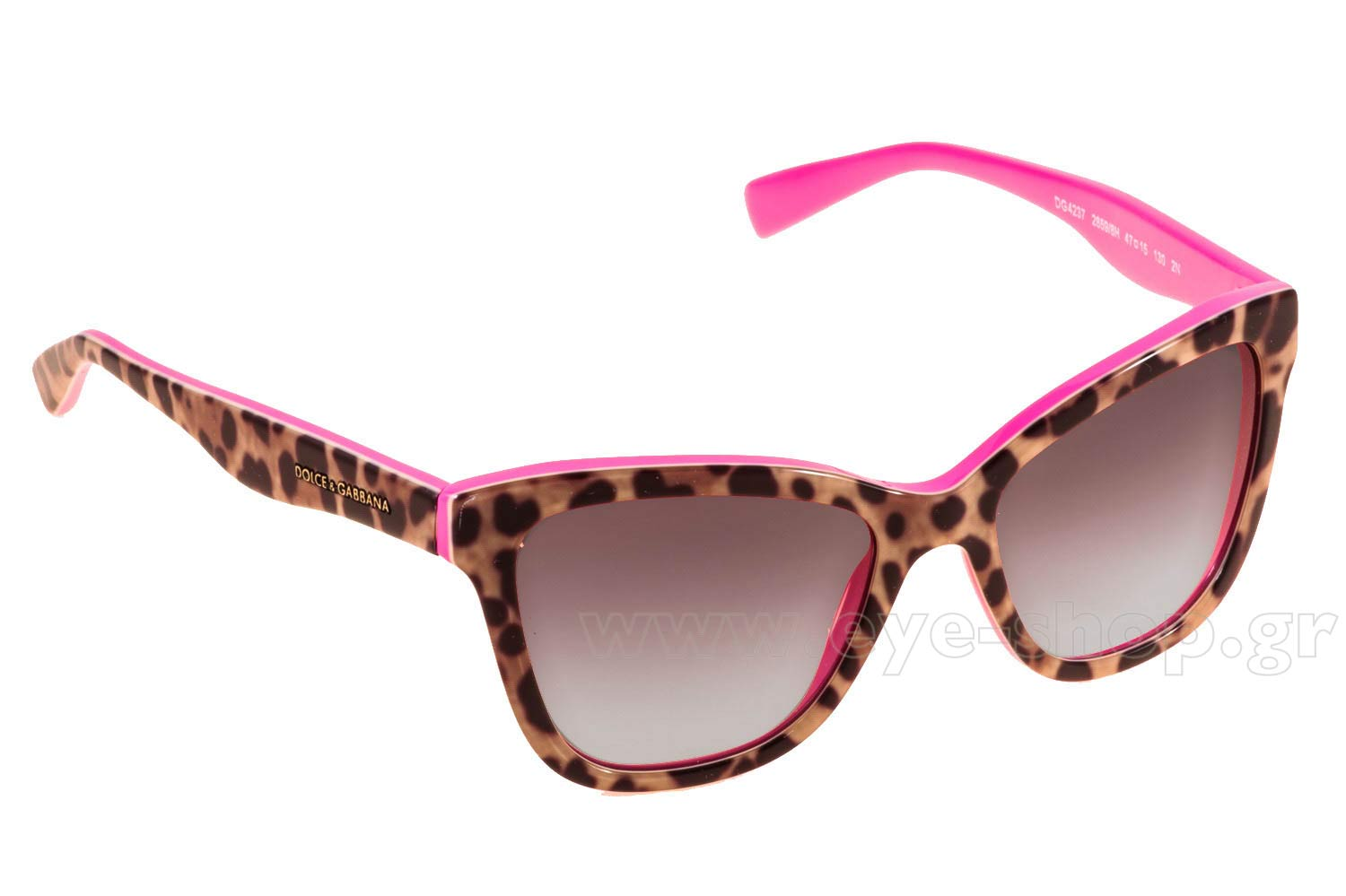 6dbcc87e0432 Cateye , color brown animal prints pink inside plastic , lenses pink  gradient plastic