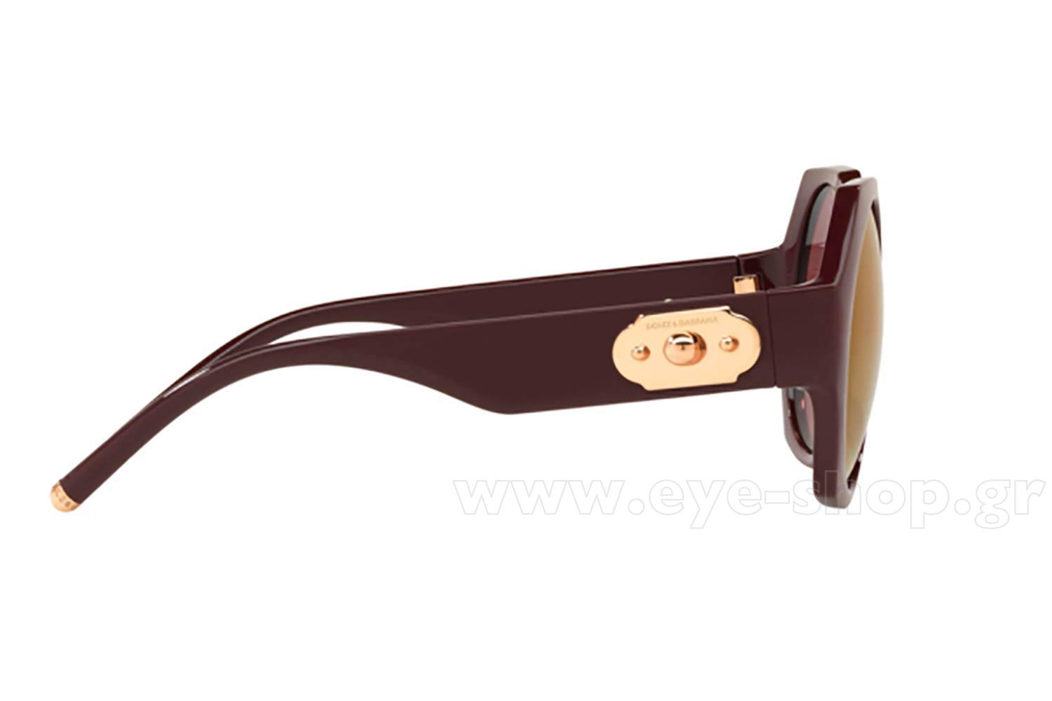 2cf3fd0862c8 Frame Color bordeaux - Lenses Color dark violet mirror red. Dolce Gabbana  model 6120 color 3091D0