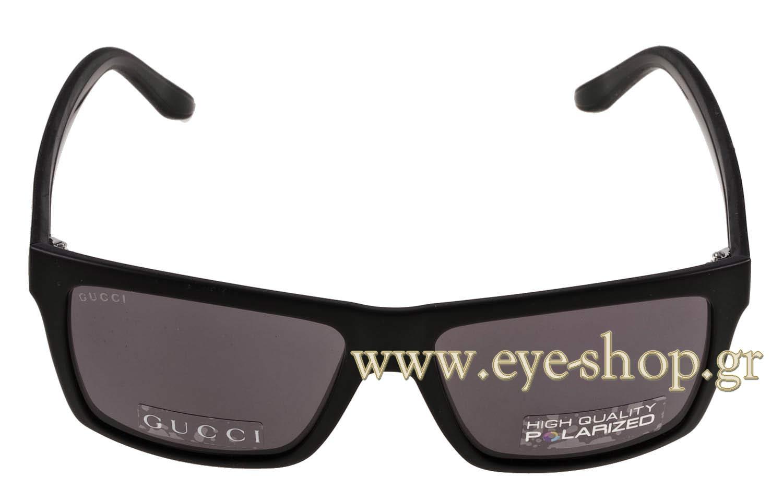 38c3f118deb Frame Color matte black - Lenses Color gray dark organic polarized. Gucci  model GG 1013S ...