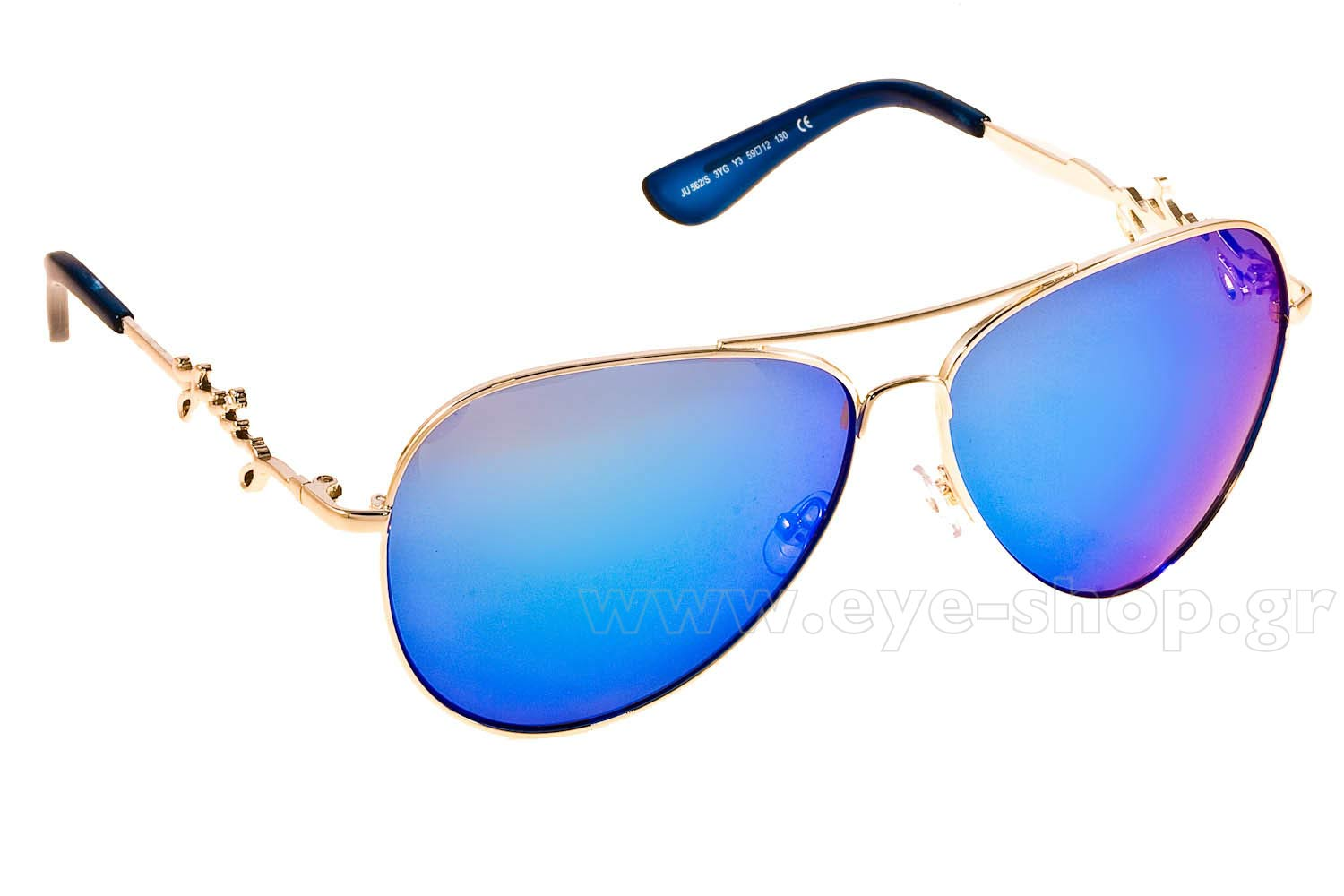 SUNGLASSES Juicy Couture JU562S 3YGY3 LGH GOLD BROWN BLUE SP c4478b94d0a