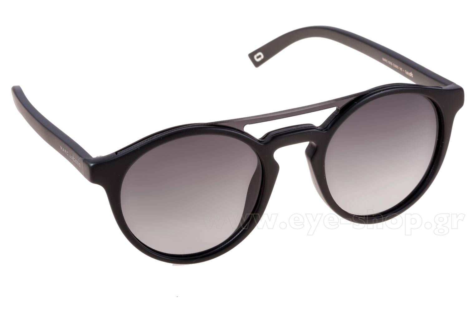 b6839141a680 Round Double bridge , color matte black plastic , lenses gray gradient  organic plastic. Enlarge Colors In Stock. Add to Cart. Sunglasses Marc  Jacobs ...