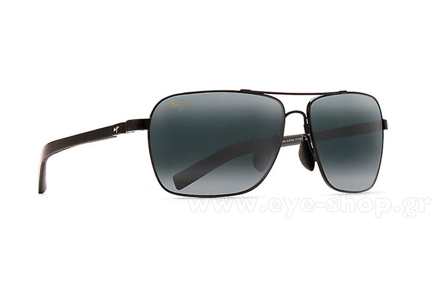 77a0a5b0f7a SUNGLASSES Maui Jim FREIGHT TRAINS 326-02 - Gray double gradient mirror  Polarized Plus2 (Rxable +3