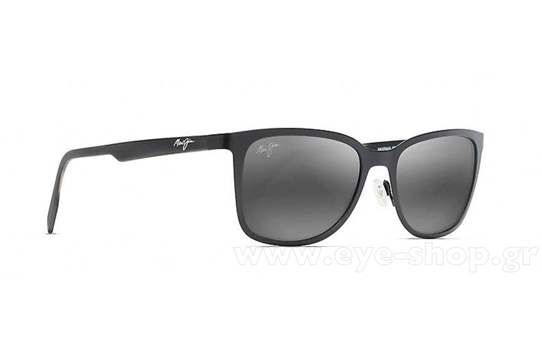 Maui Jim Naupaka Sonnenbrille Satin Schwarz 2M Polarisiert 53mm xDCei