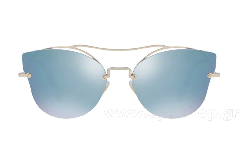 419096d1fb Frame Color PALE GOLD - Lenses Color Blue mirror. Miu Miu model 52SS ...