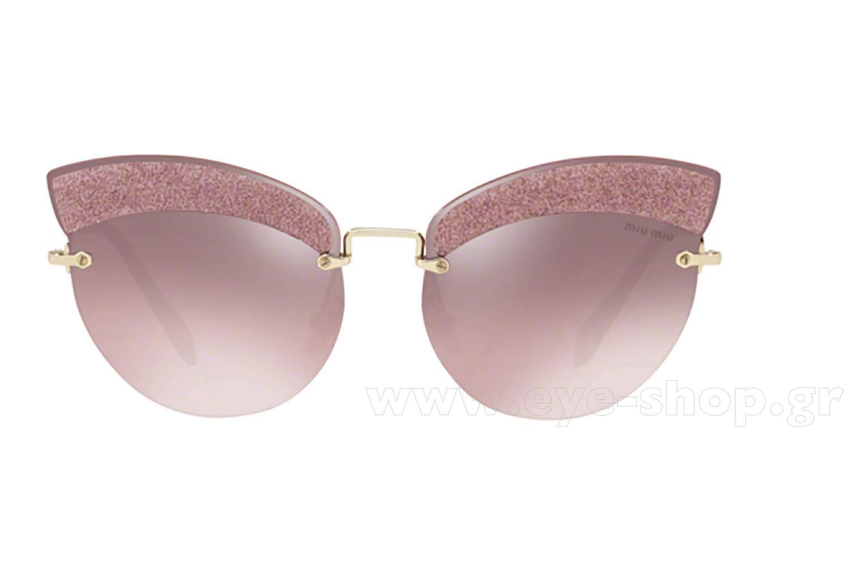 79557e02e957 Frame Color gold pink GLITTER FABRIC SUNGLASSES - Lenses Color 0. Miu ...