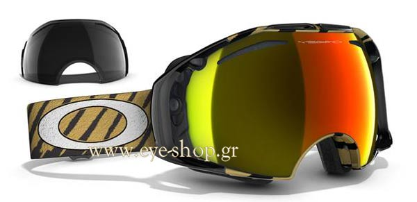 d6e266742d Sunglasses Oakley AirBrake 7037 Snow 57-424 Shaun White Highlight Gold Fire  Iridium -