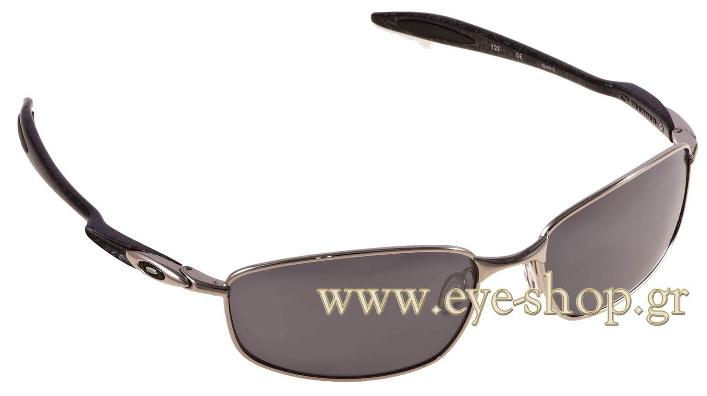 53fec04b9 SUNGLASSES Oakley Blender 4059 02 Black iridium Chrome silver Ghost Text