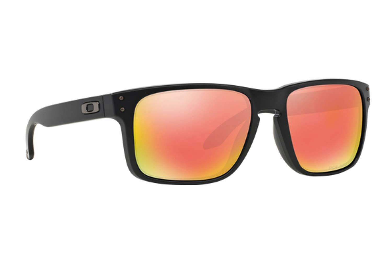 5bf176c1caa Oakley Sunglasses Holbrook 9102 51 Matte Black Ruby Iridium ...