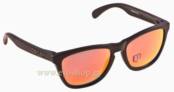 8250967aafef Oakley Sunglasses Frog Skins Matte Black Ruby Polarized 24 402 ...