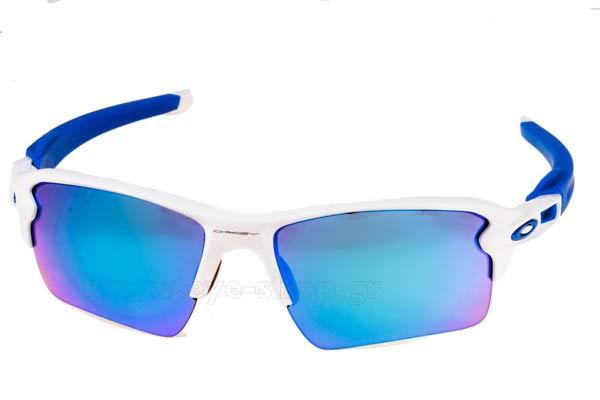 70165b243b6 Frame Color white blue - Lenses Color sapphire Iridium. Oakley model FLAK  2.0 XL 9188 color 20 ...