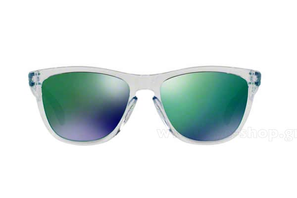 Frame Color transparent - Lenses Color green mirror Sapphire Iridium. Oakley  model Frogskins 9013 ... 50669abb432