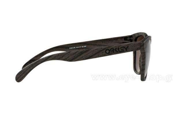 cac8bfc9ca4 Men SUNGLASSES Oakley Frogskins 9013 89 Woodgrain Prizm Daily Polarized