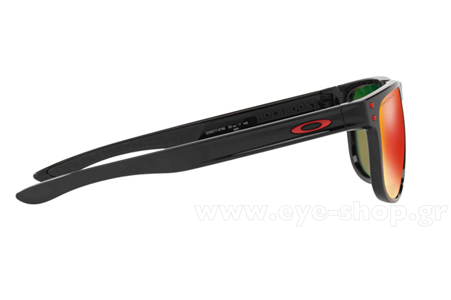 59129c117c Oakley model HOLBROOK R 9377 color 07 POLISHED BLACK prizm ruby polarized