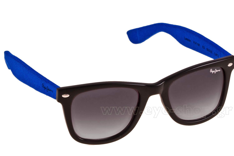 b437a50aa37 SUNGLASSES Pepe Jeans Lennon PJ7167 C3 Black Blue Tissue