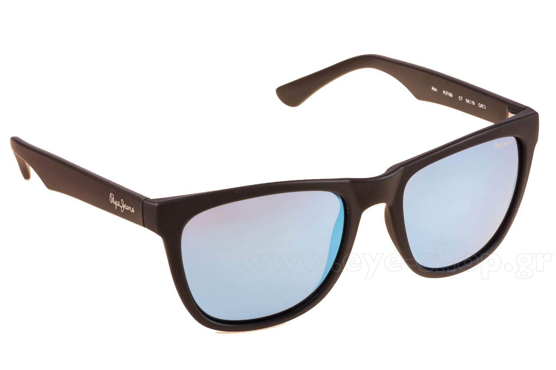7dfa1c84322 SUNGLASSES Pepe Jeans ALEX PJ7166 C7 Mat Black Blue Mirror