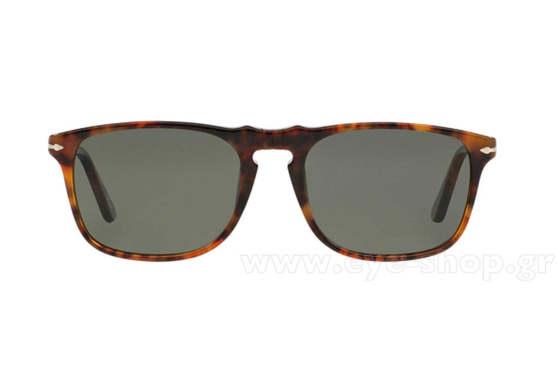 81061dfd413 Frame Color Brown tortoise - Lenses Color g15 graygreen glass polarized.  Persol model 3059S ...