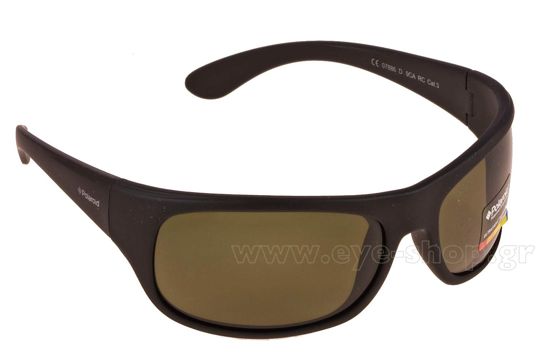 7451de3a6dc Sport Sunglasses Polaroid 7886D 9CA Black Rubber - size 70