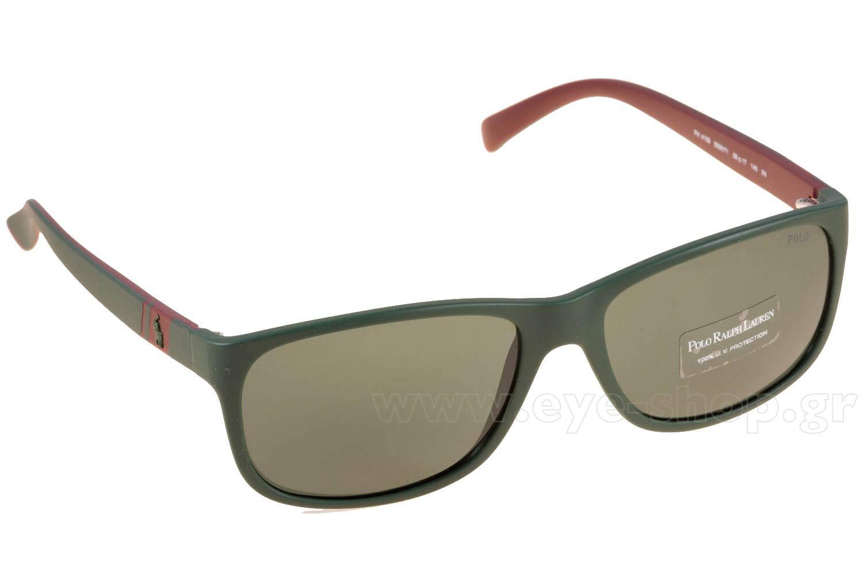 Polo Ralph Lauren Sunglasses 4109 559671 Matt Green Brown Grey Green
