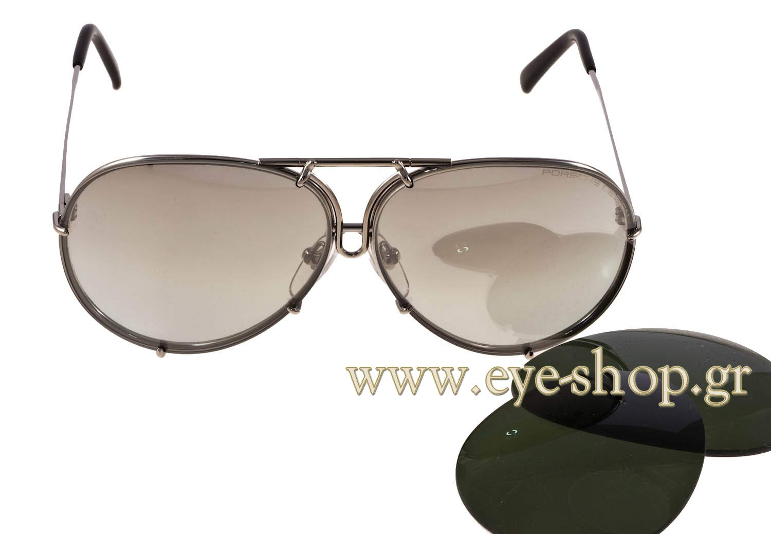 Porsche Design P8478 B Interchangable 63 Sunglasses Men