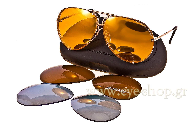 a0f2b716d7 Porsche Sunglasses P8478 Size 69