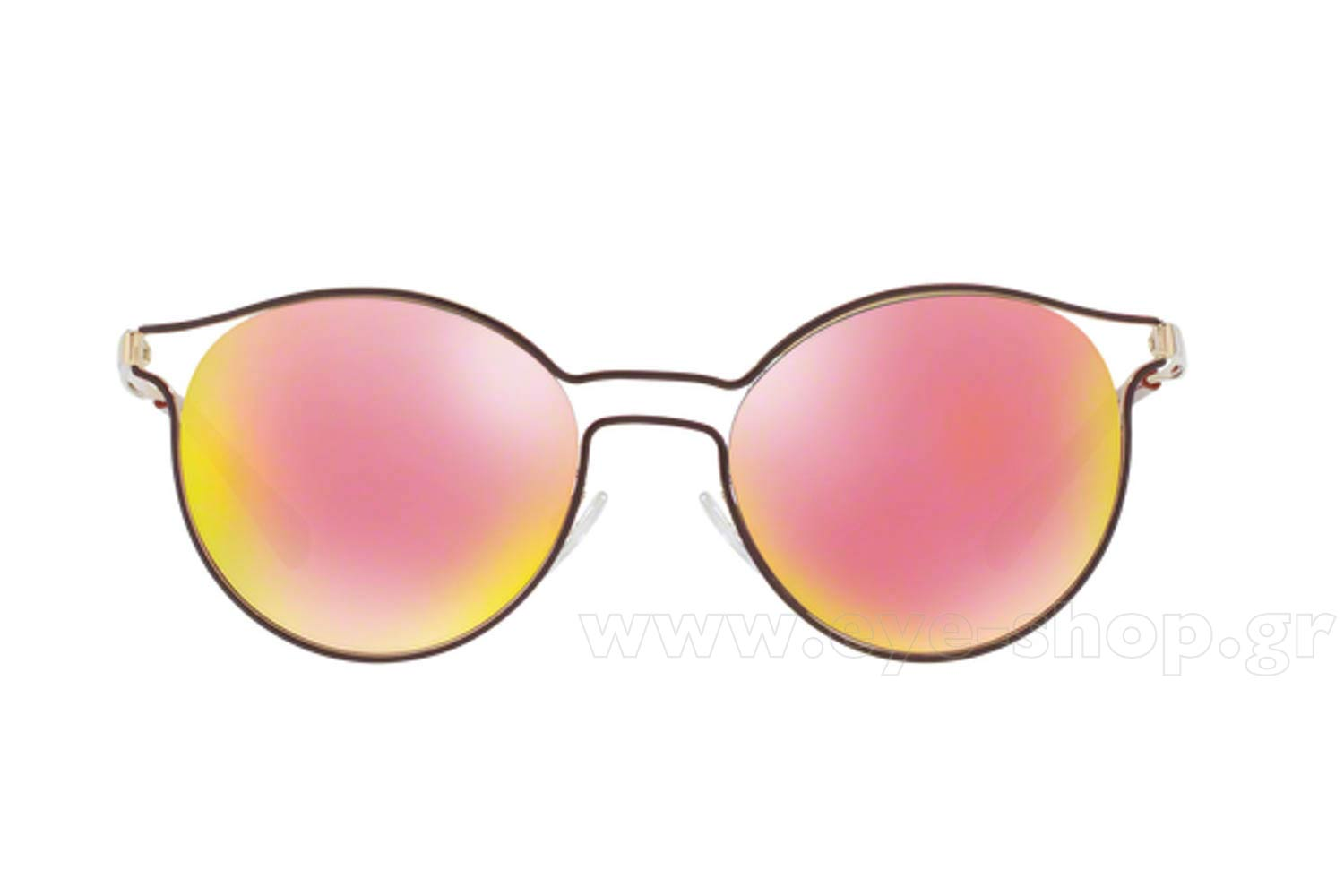efa9ec6333 Frame Color bordeaux gold - Lenses Color pink mirror. Prada model 62SS  color USH5L2