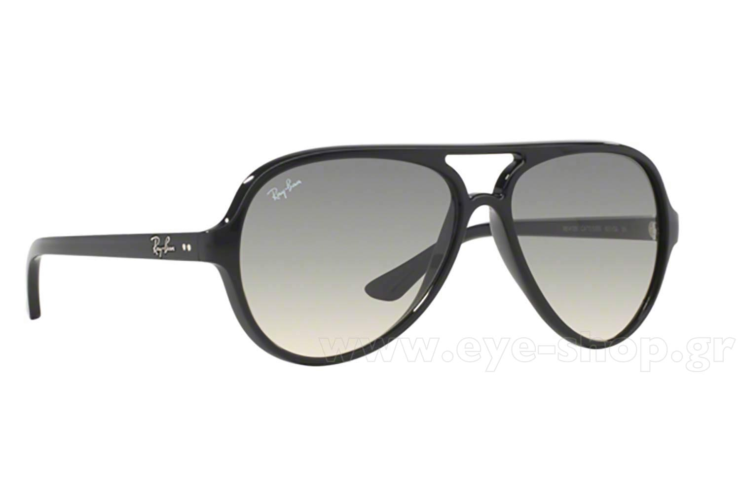 Aviator , color Black plastic , lenses gray gradient glass glass. Enlarge  Colors OutOfStock. Add to Cart. Sunglasses Rayban 4125 CATS 5000 ... 54d90b19dabd