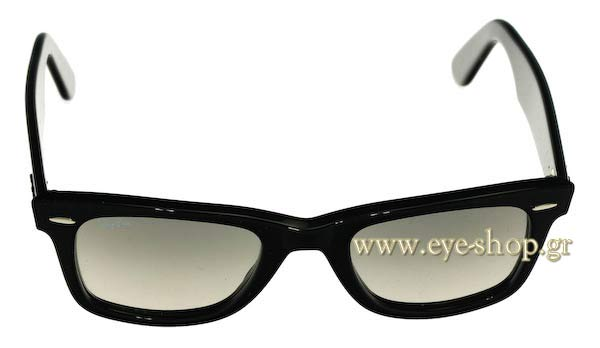 Frame Color Black - Lenses Color Gray gradient crystal. Rayban model 2140  ... 54c51df840c