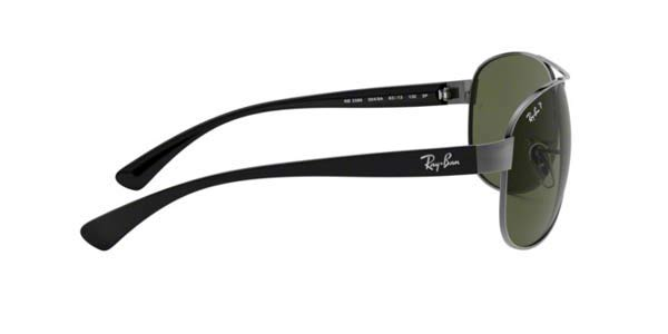 b2ad3ead0cb Frame Color Black gunmetal - Lenses Color g15 organic polarized. Rayban  model 3386 color 004 9A POLARISED