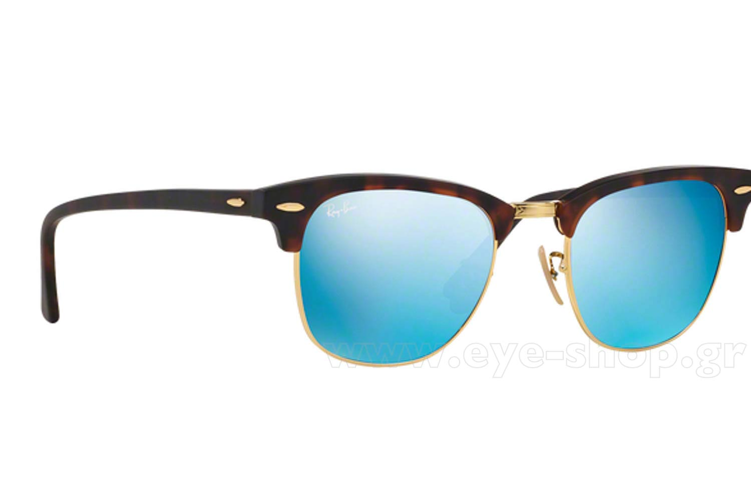 523a9e5a15 ... RAYBAN-3016-CLUBMASTER sunglasses 114517 blue mirror krystals - 49.  Clubmaster