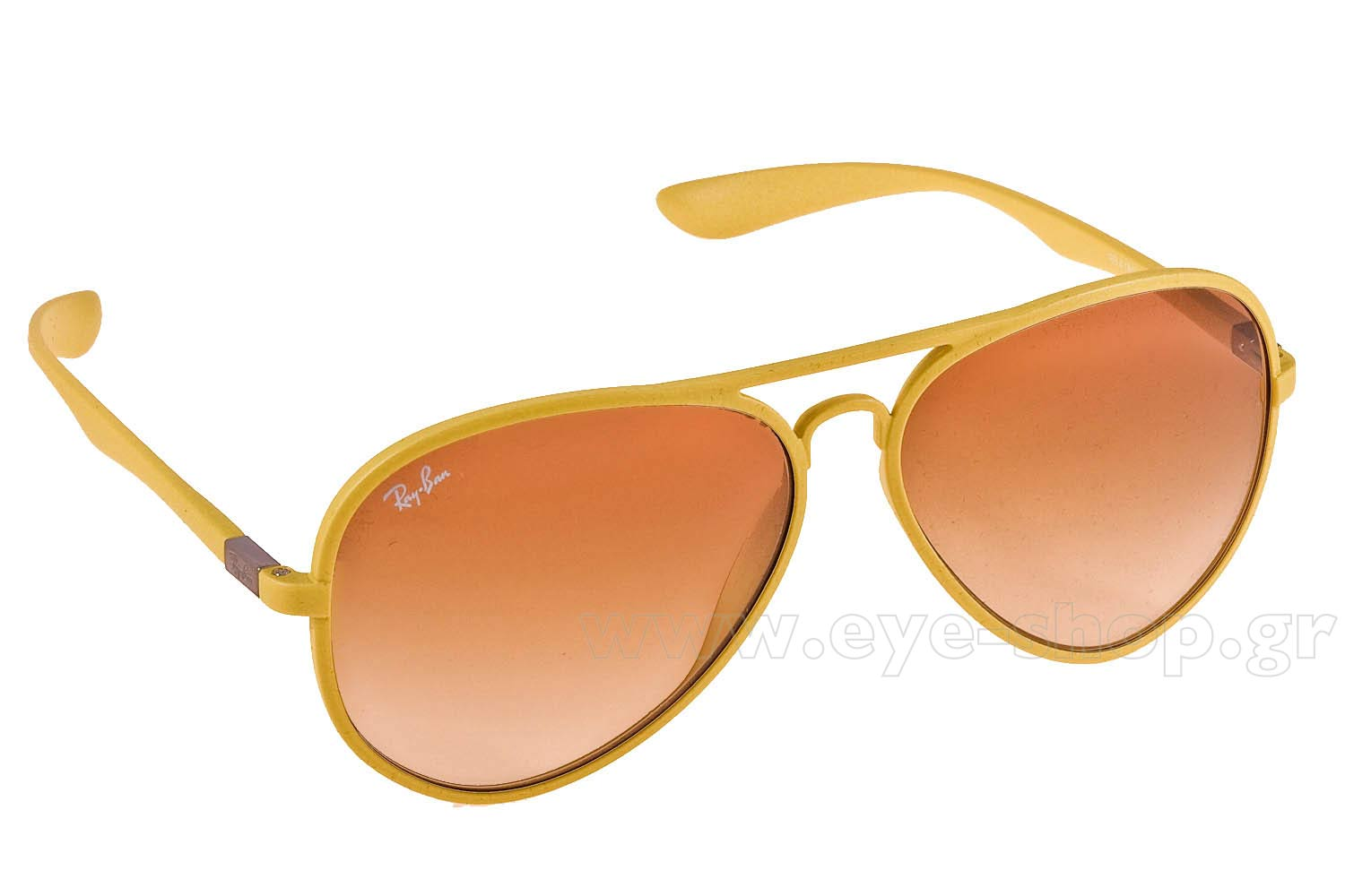 9e7e0a8e0f4 inexpensive ray ban rb4180 liteforce 881 13 sunglasses 99461 cfebe  hot  aviator color yellow resin lenses brown gradient organic plastic. enlarge  colors ...