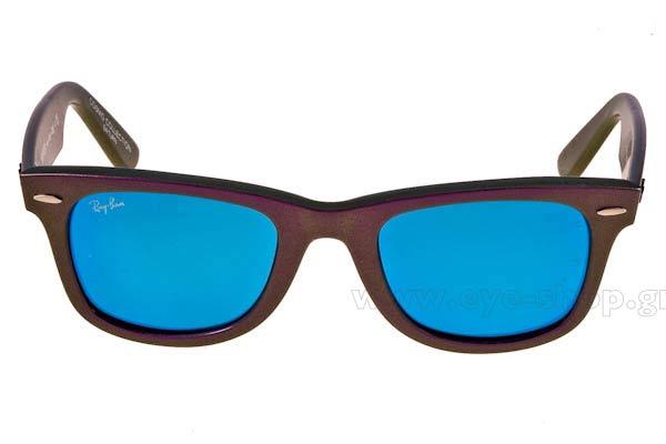d14dc8fd01 Frame Color violet - Lenses Color blue mirror flash krystal. Rayban model  2140 ...