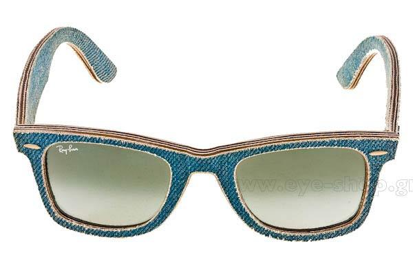 514e90ceef5a8 Frame Color light blue jeans denim - Lenses Color blue gradient krystal.  Rayban model 2140 Wayfarer ...